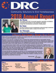 2018 DRC Annual Report Front Page